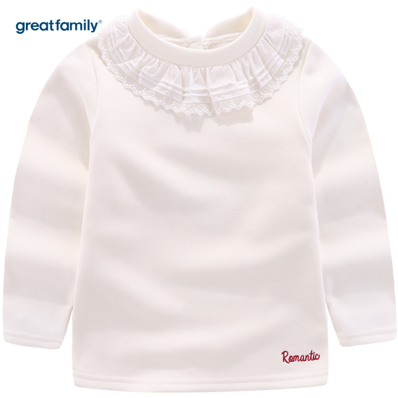 歌瑞家A类女童白长袖T恤