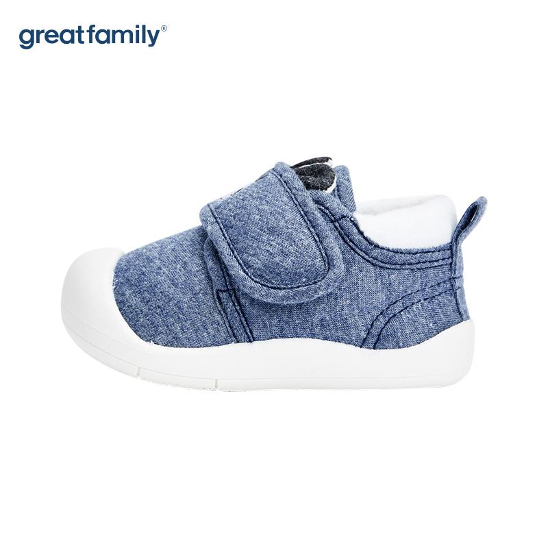 歌瑞家(greatfamily)男婴休闲宝宝鞋GBS4-017SH蓝