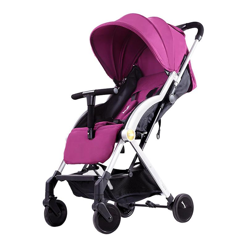 Pouch轻便易折叠婴儿旅行手推车A22紫色