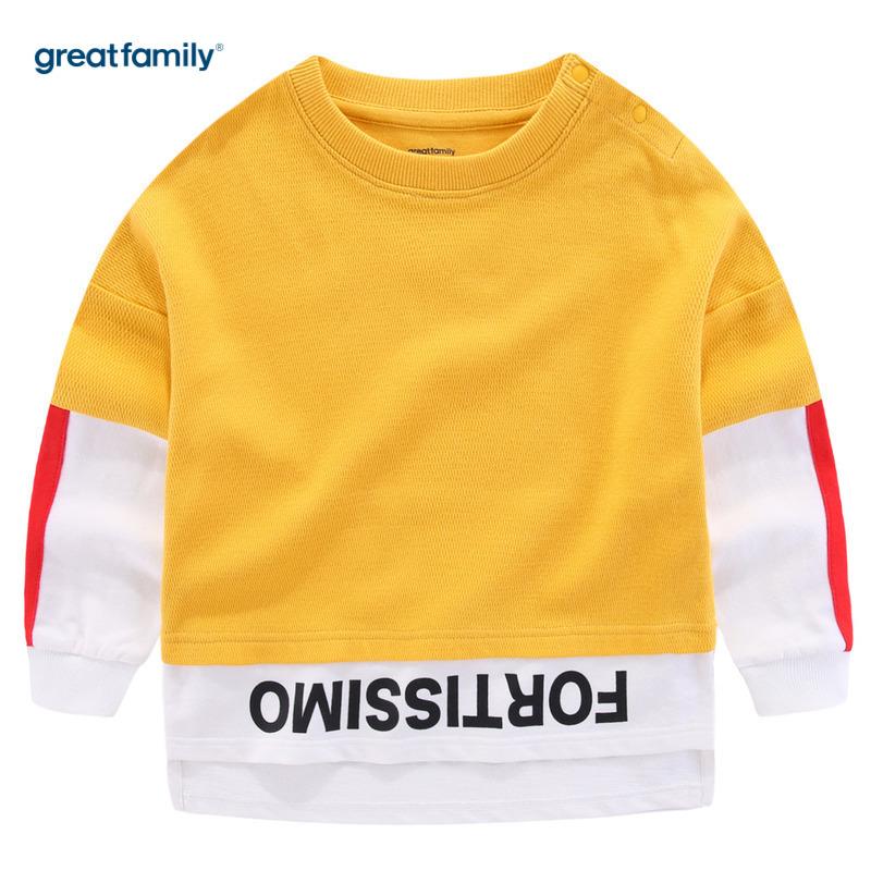 歌瑞家A类男童黄色套头卫衣