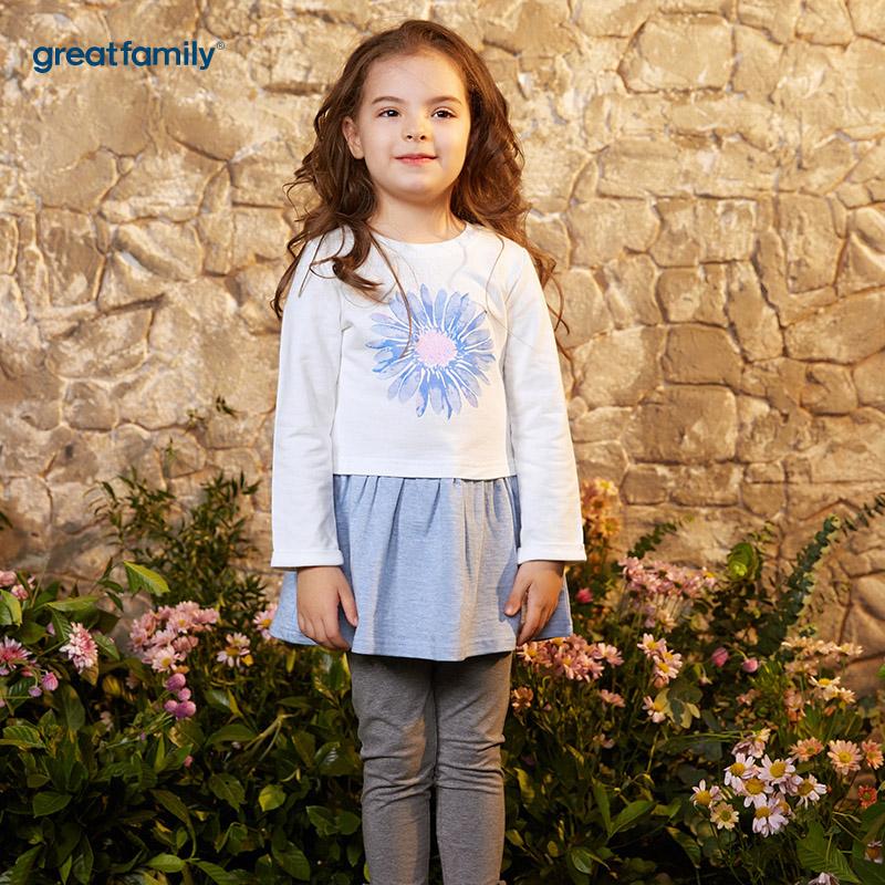 歌瑞凯儿(新)A类可爱精灵白色女童针织连衣裙