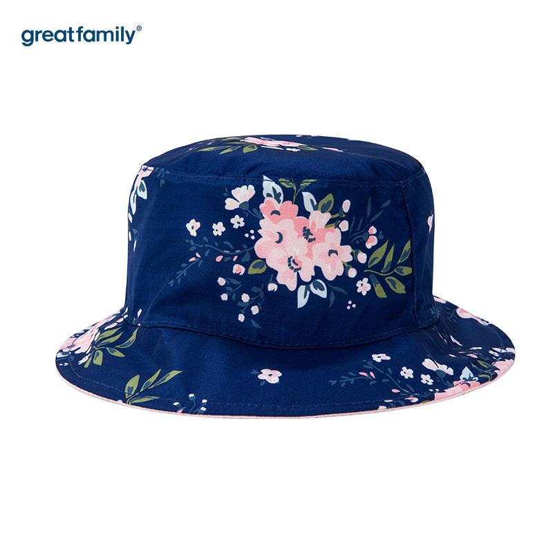 歌瑞家(Greatfamily)A类女童蓝色盆帽