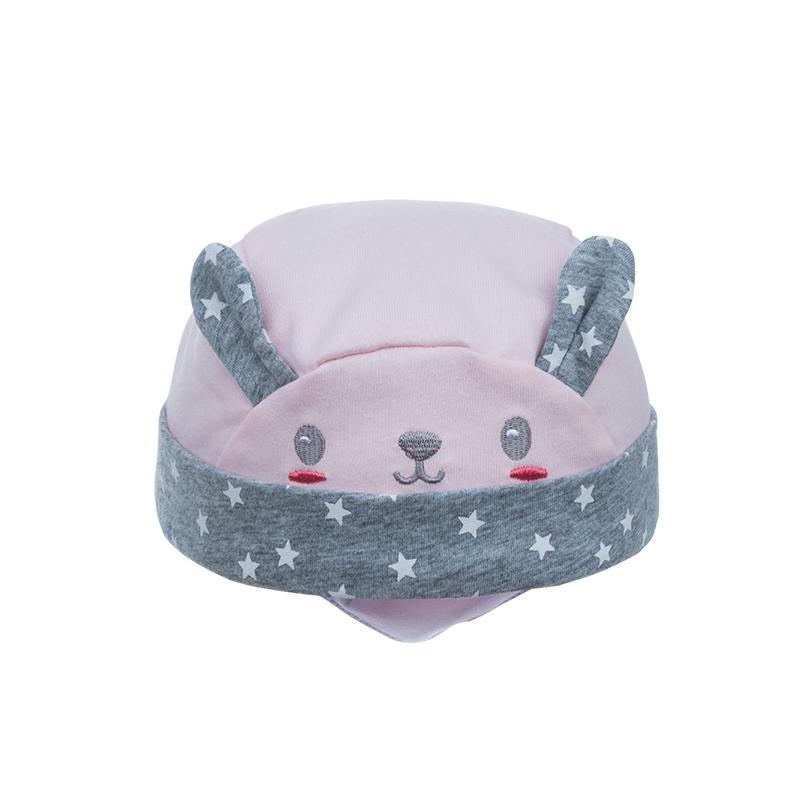 歌瑞家A类女童粉色针织海盗帽套装
