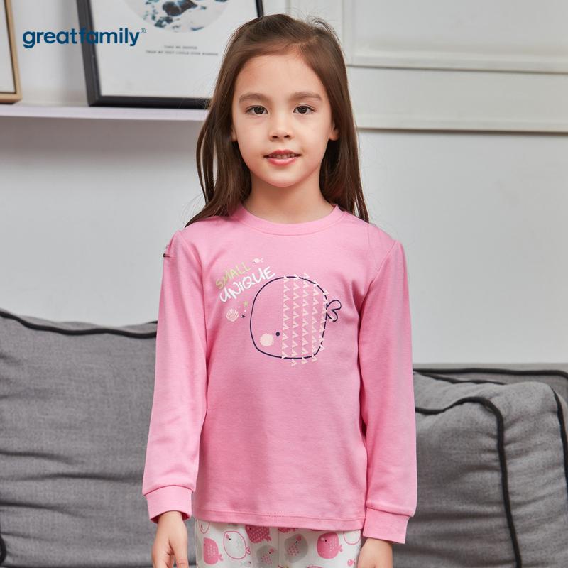 歌瑞家A类双面布系列粉色女圆领长袖上衣