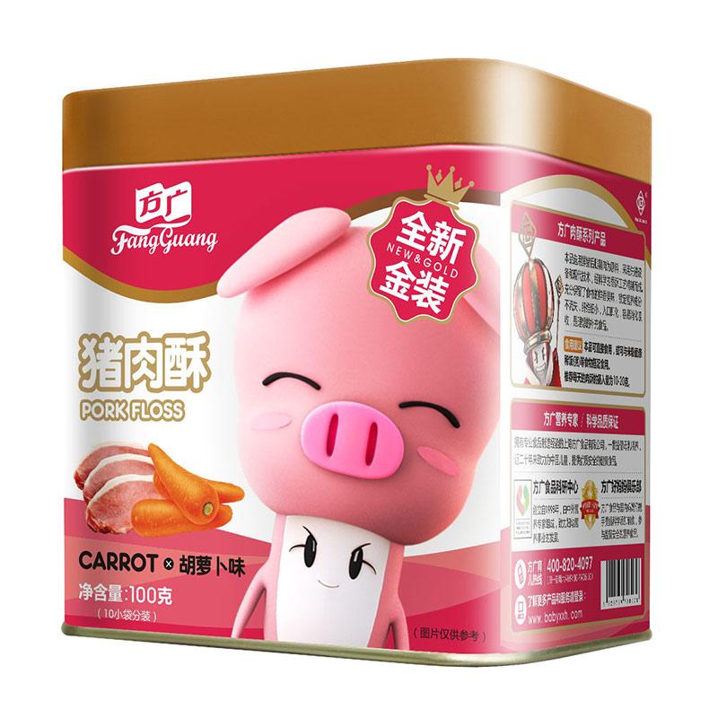 方广猪肉酥胡萝卜味100g6个月以上添加橄榄油低盐