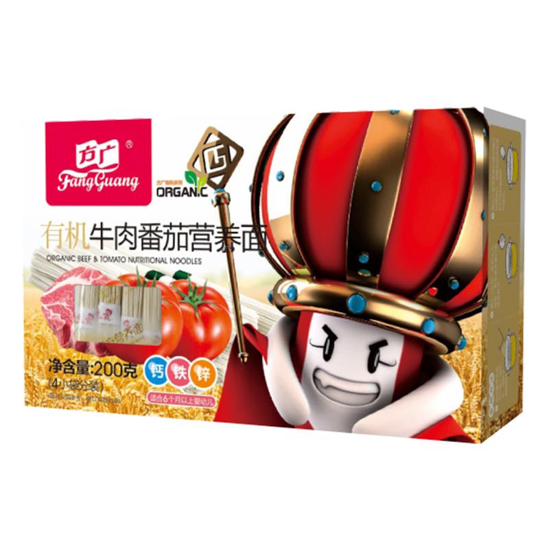 方广有机牛肉番茄营养面200g盒
