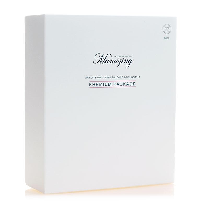 Mamiqing硅胶奶瓶庆生礼盒 粉色1套