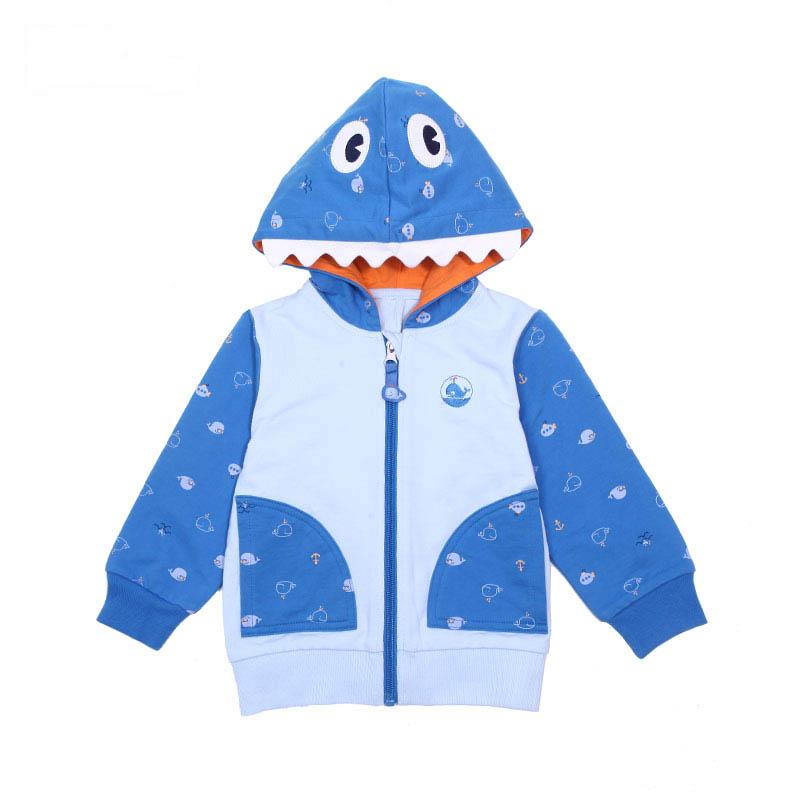 歌瑞家A类男宝宝蓝色卫衣外套