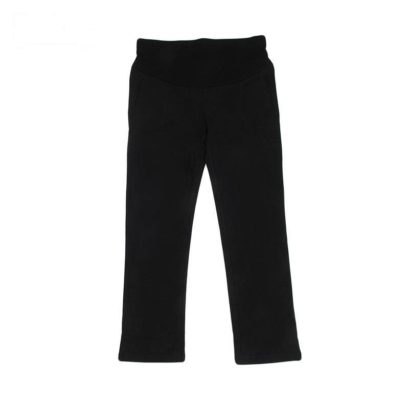 超柔休闲针织裤黑