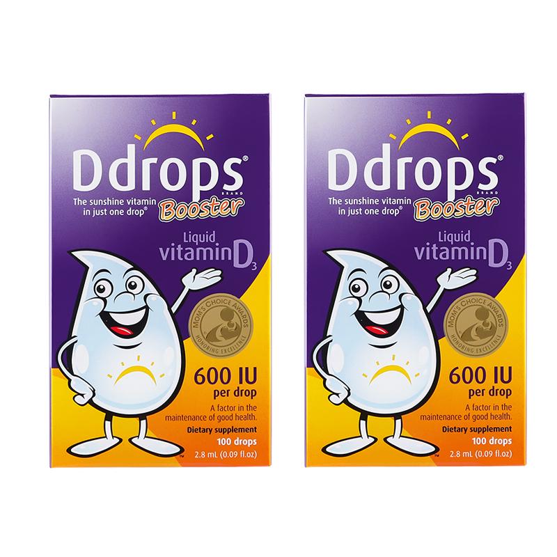 【包税】Ddrops幼儿维生素D3滴剂2.8ml  600IU 100滴 2瓶装
