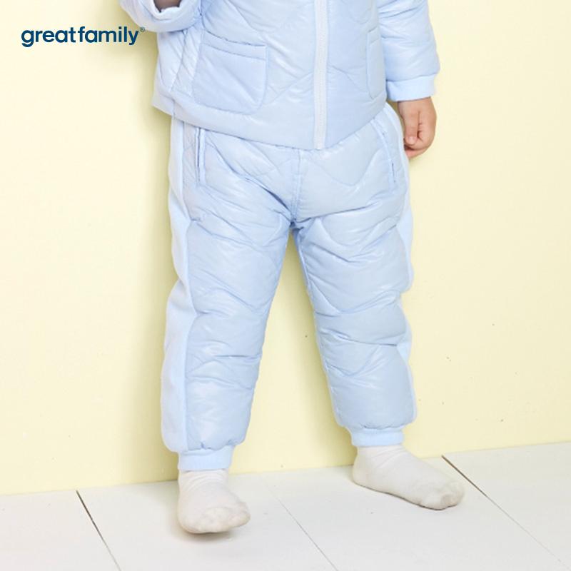 歌瑞家(Greatfamily)A类男宝宝蓝色羽绒内穿裤子/内胆