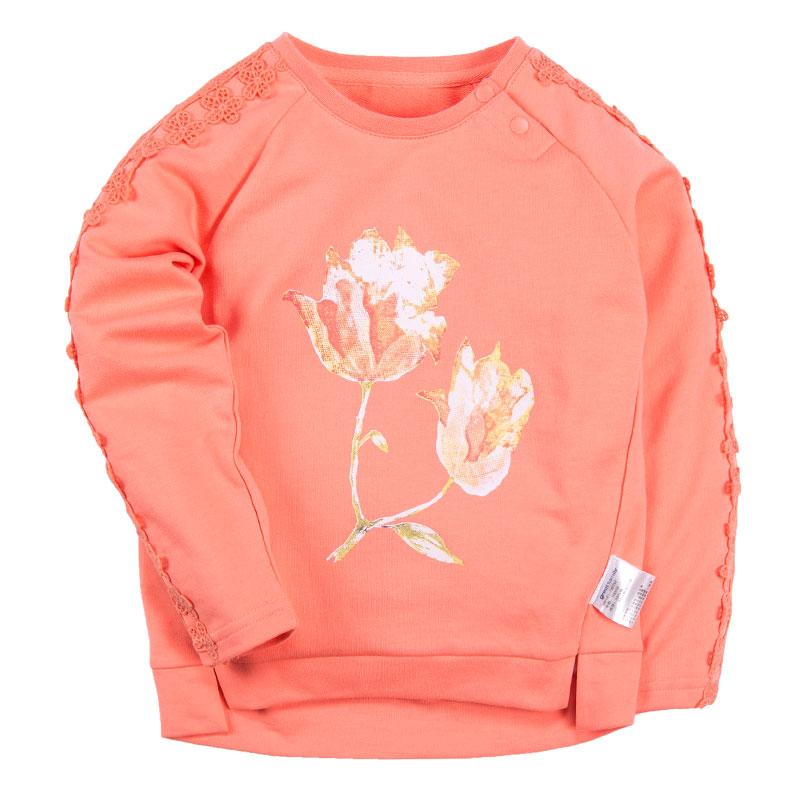 歌瑞凯儿A类女童橙色长袖T恤