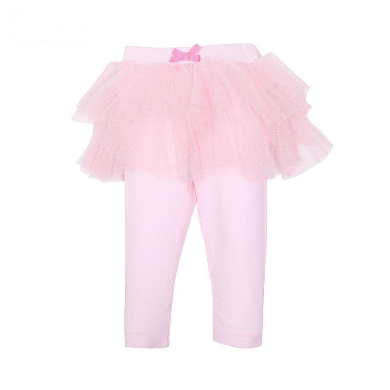 歌瑞家A类女宝宝粉色纱裙打底裤