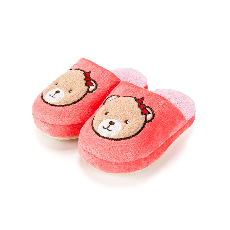 歌瑞家greatfamily女童小熊拖鞋粉色