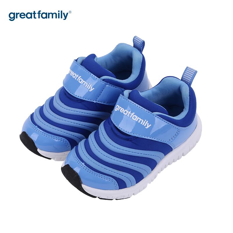 歌瑞家(greatfamily)男婴毛毛虫运动鞋GKS3-013SH蓝