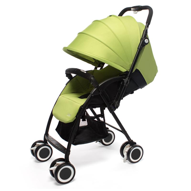 宝琪婴儿双向推车可坐可躺双向轻便携可折叠新生儿童婴儿车 青柠绿