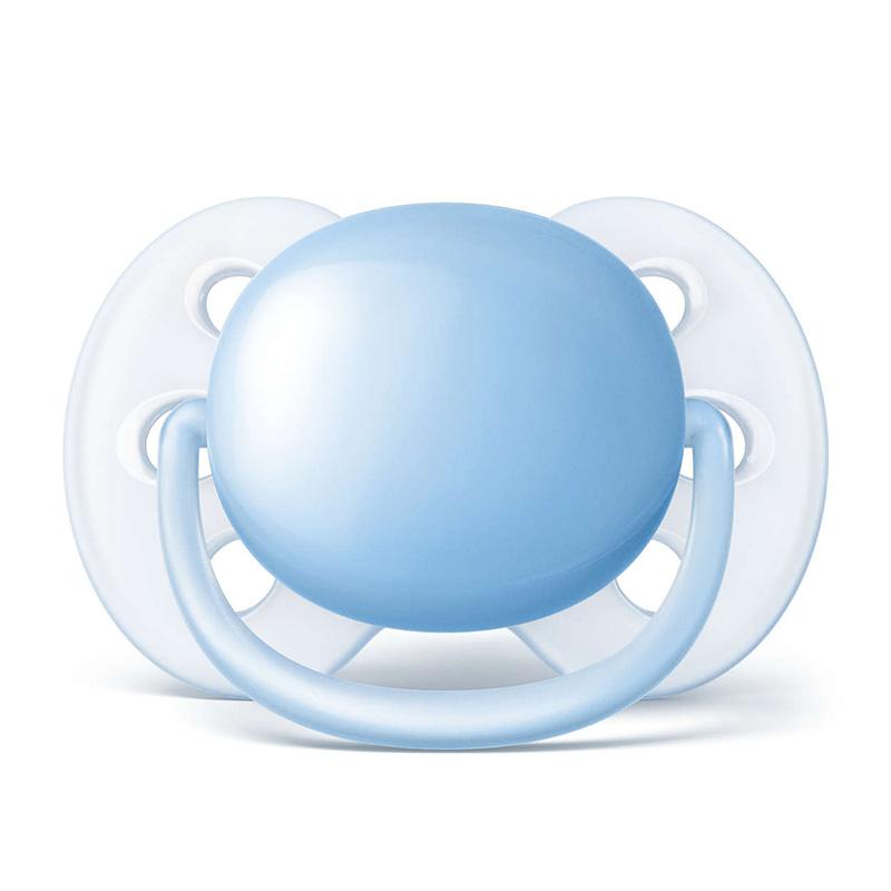 飞利浦新安怡马卡龙安抚奶嘴(0-6个月)浅蓝对装