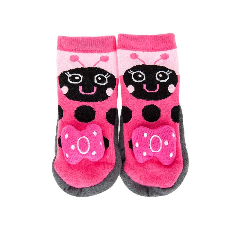 歌瑞贝儿女童立体可爱平口地板袜(1双装)GB154-002混色24-36个月