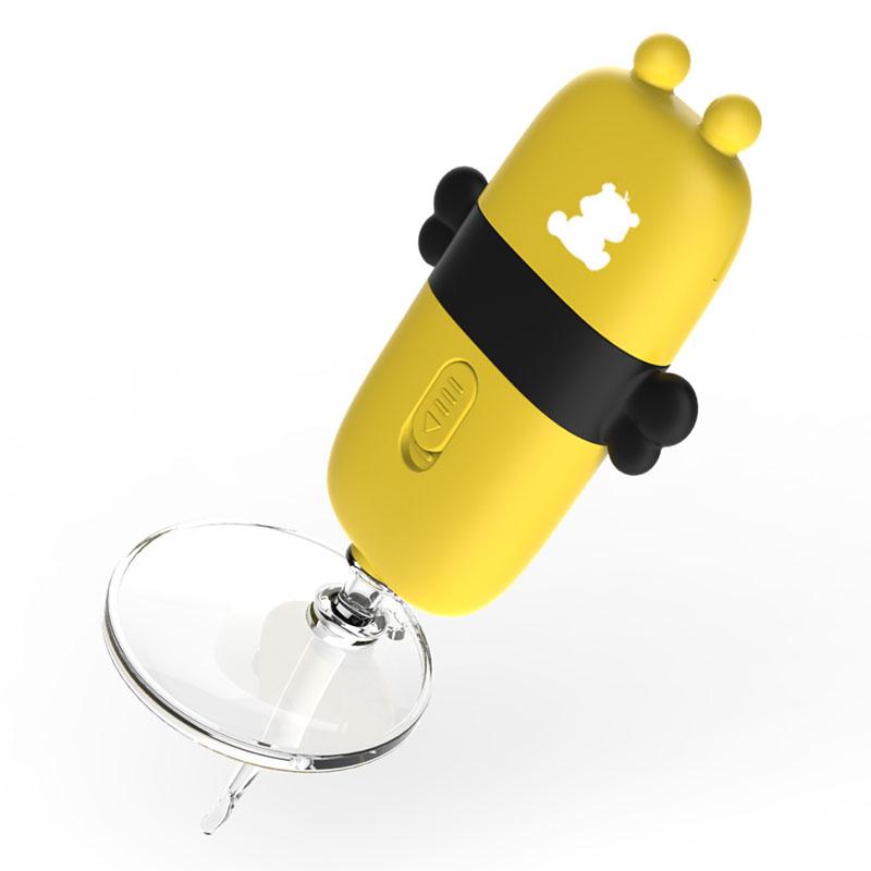 小白熊发光掏耳宝蜜蜂型硅胶软头LED发光收纳方便软头耳夹