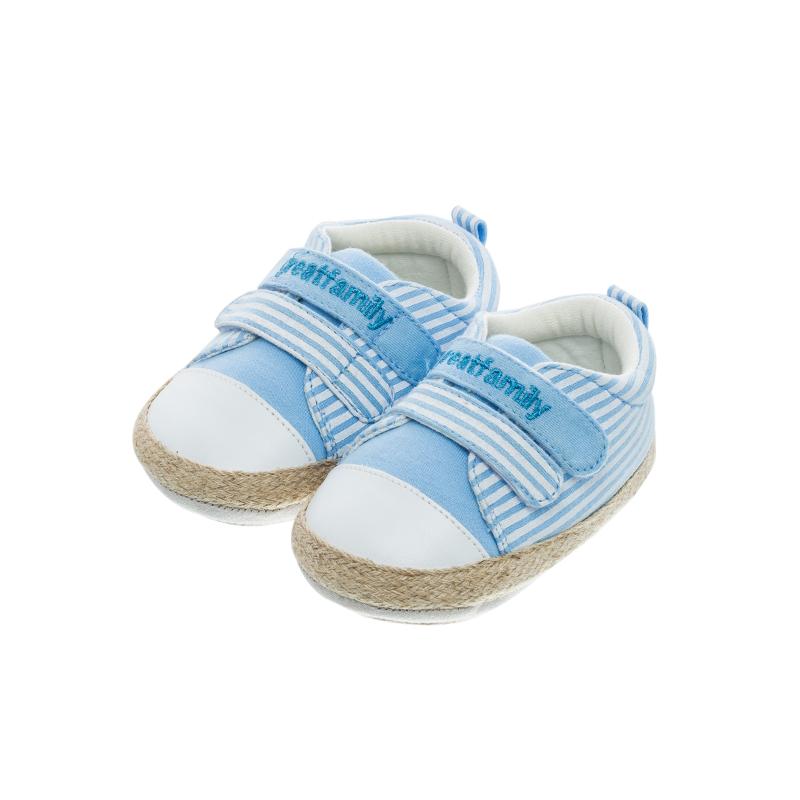 歌瑞家(greatfamily)男婴条纹宝宝鞋GBS1-003SH蓝12CM双