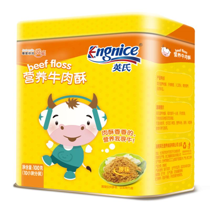 英氏Engnice营养牛肉酥100g6个月以上