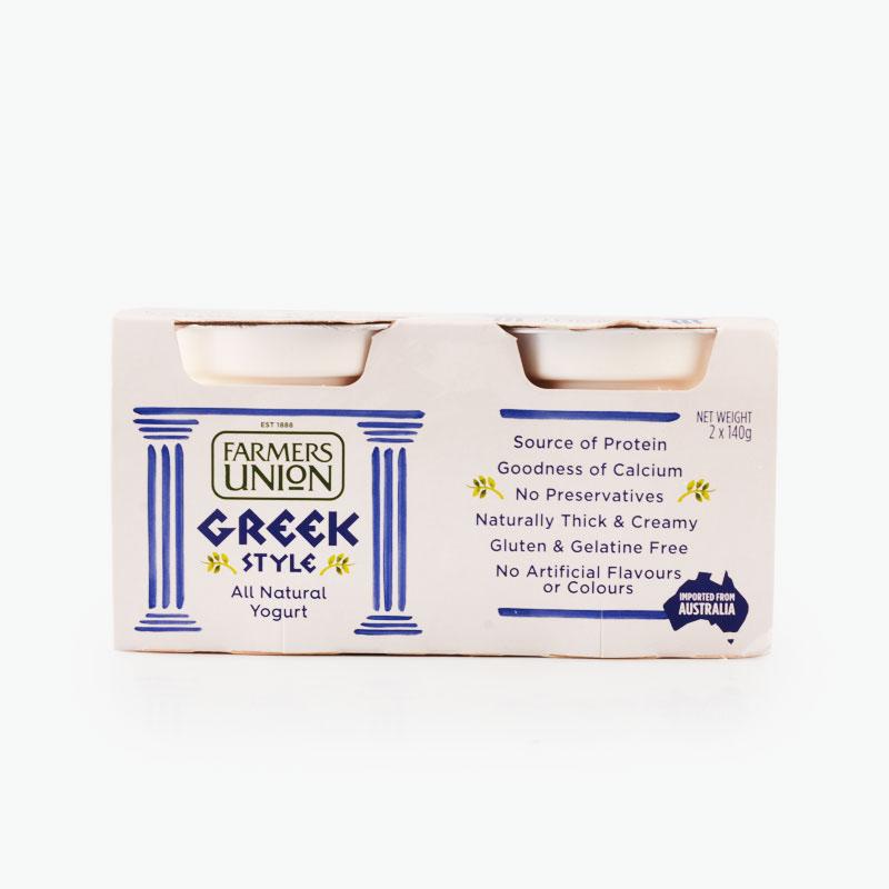 澳大利亚Farmers Union高蛋白希腊风味酸奶 农夫联盟希腊式酸乳(原味)140g*2*6