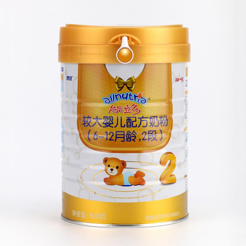 澳优能立多较大婴儿配方奶粉2段(6-12个月)800g听
