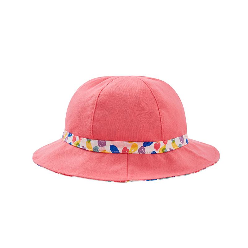 歌瑞家A类女童混色梭织盆帽