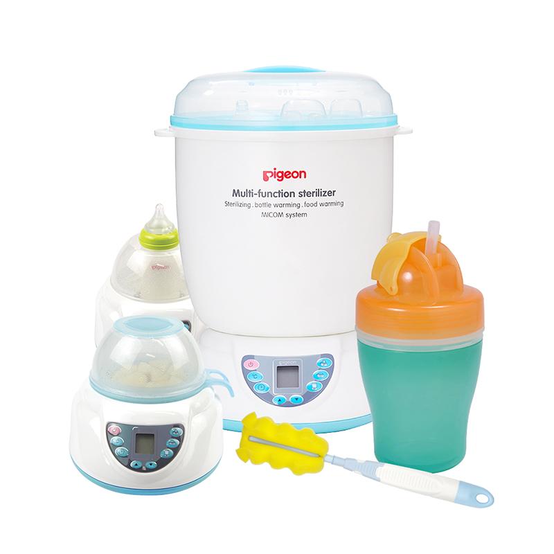 贝亲(喂养)--pigeon多功能蒸汽消毒器PL266消毒/温奶/加热食物(0岁以上)1套/盒