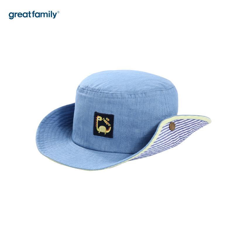 歌瑞家A类男童牛仔色盆帽