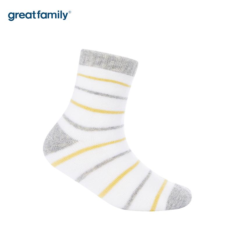 歌瑞家A类条纹男童中筒袜