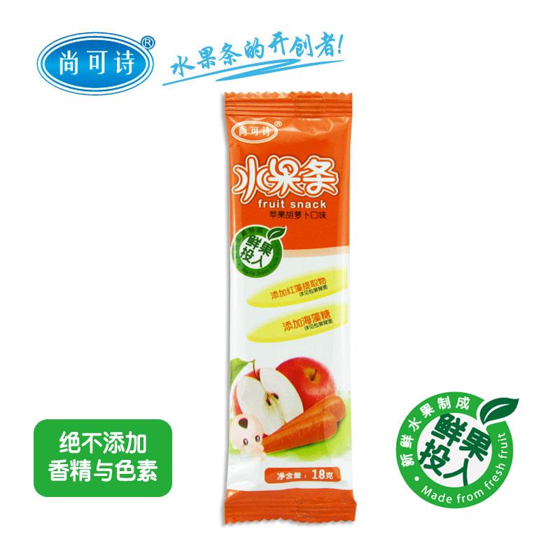 尚可诗苹果胡萝卜水果条18g