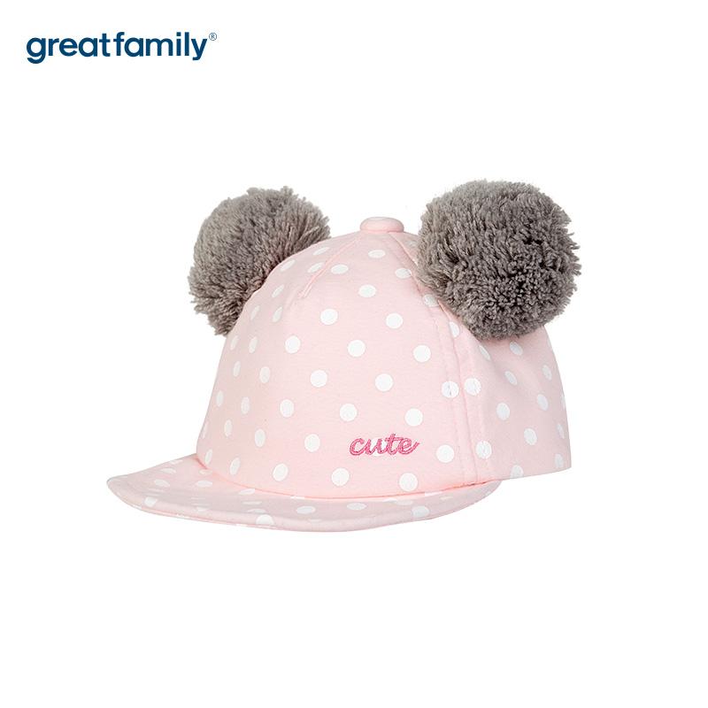 歌瑞家A类女童软檐帽粉色女童帽