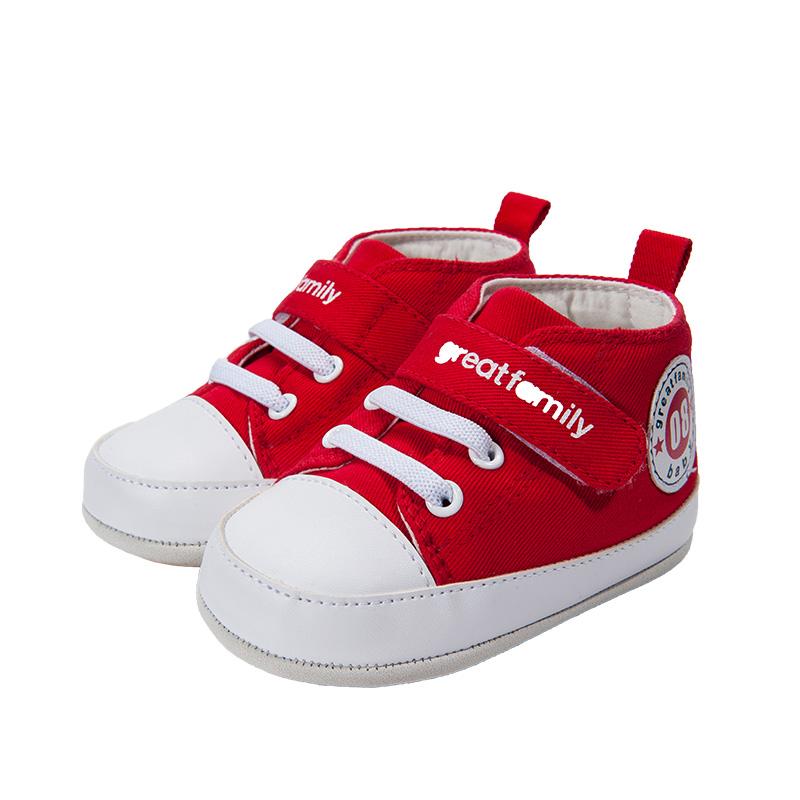 歌瑞家(greatfamily)中性素色宝宝鞋红