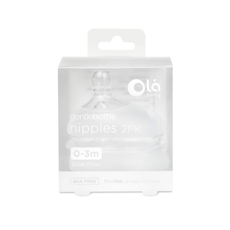 欧拉宝贝(Olababy)替换奶嘴--慢速 0-3月 (双包装)