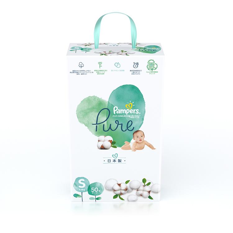 帮宝适超高端日本纯净帮纸尿裤小码S50片