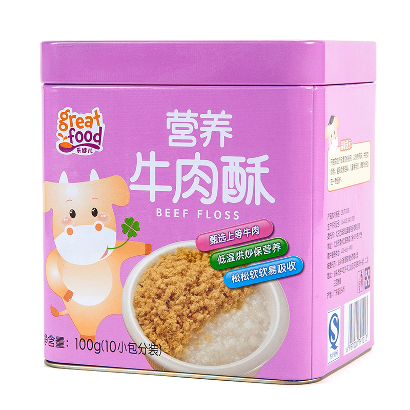 乐健儿GreatFood营养牛肉酥(原味)100g