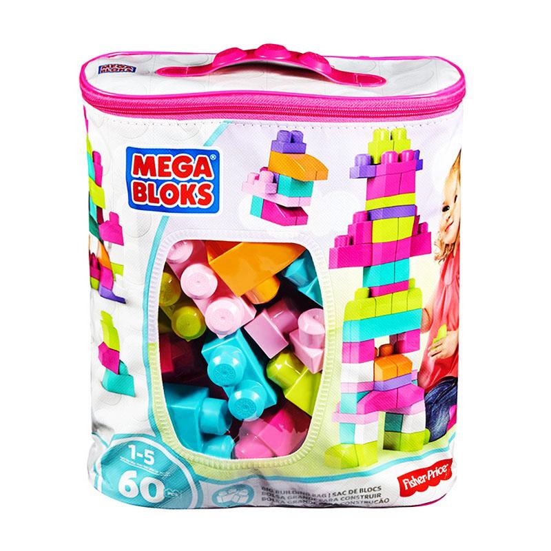 费雪美高(megabloks)大袋积木60片粉色