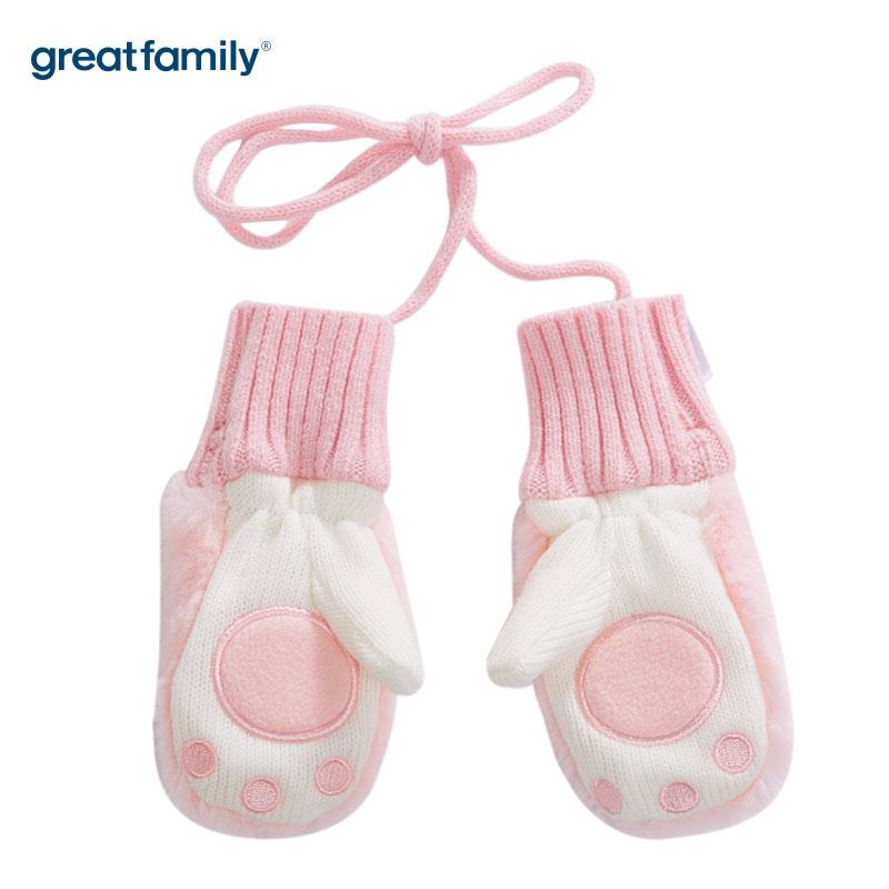 歌瑞家A类女童粉色手套
