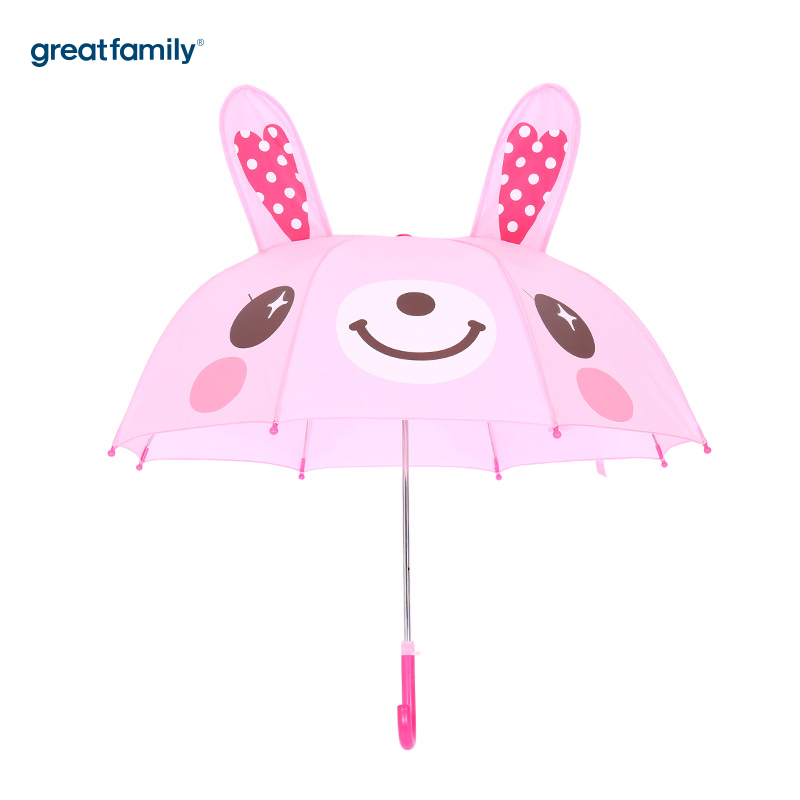 歌瑞家A类女童粉色小兔子雨伞
