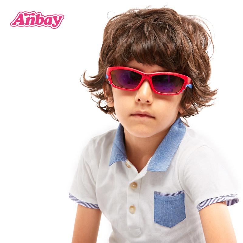 安比红色偏光儿童太阳镜