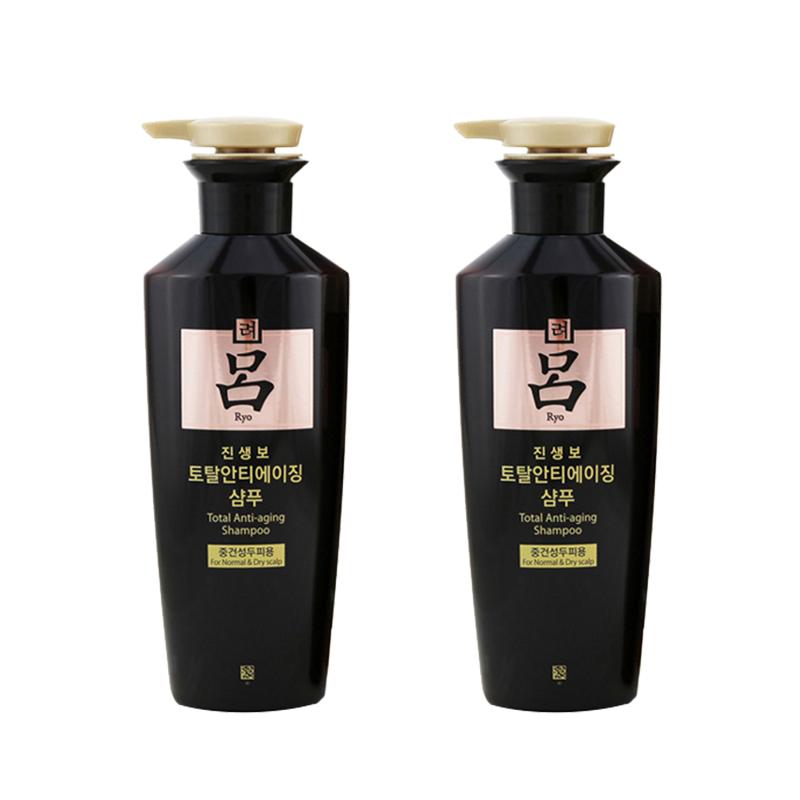 【全球购】韩国黑吕滋养防脱固发干性洗发水400ml*2 保税区直发