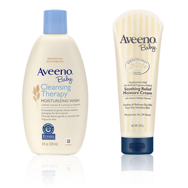 艾惟诺-Aveeno婴儿舒缓柔嫩洗护礼盒(舒缓霜+舒缓沐浴乳)2件/套