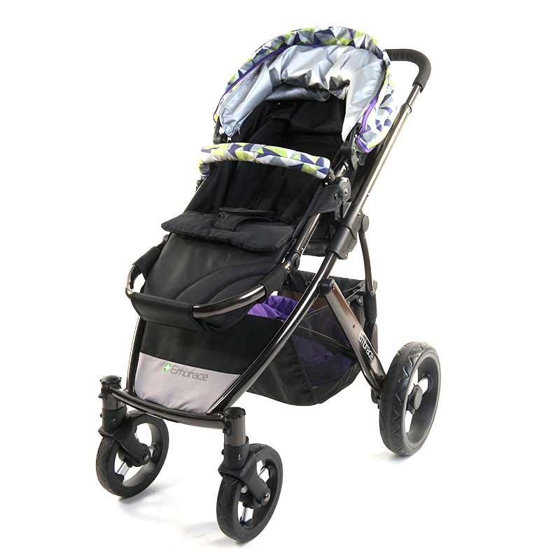 宜柏(Embrace)高景观全铝合金豪华双向婴儿推车4980草绿色