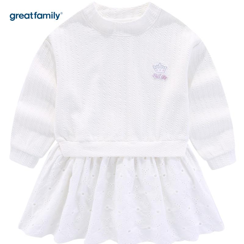歌瑞家A类女童白色连衣裙