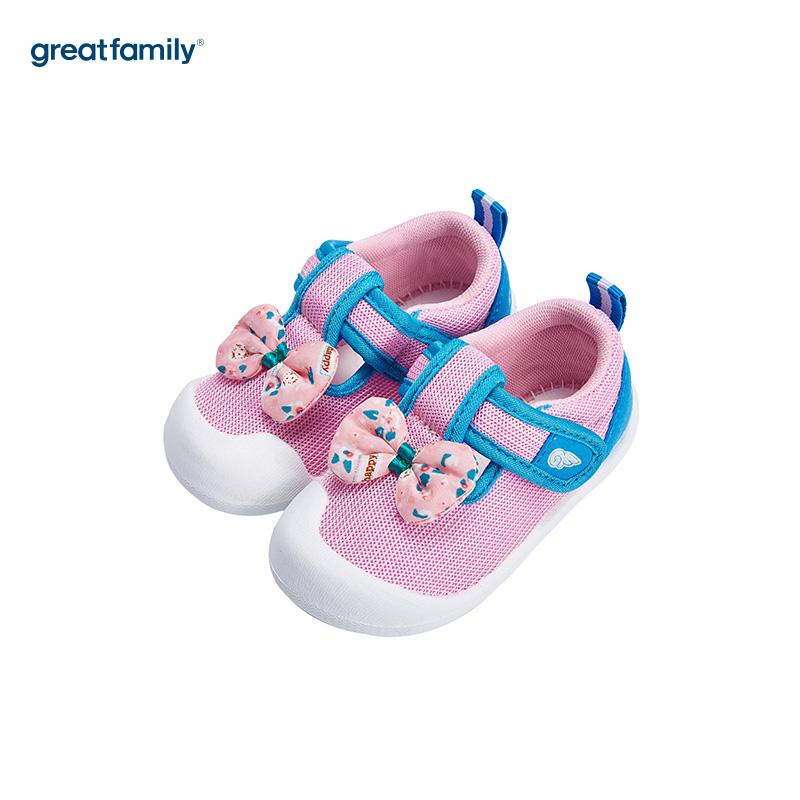 歌瑞家(greatfamily)女婴公主运动鞋GB182-015SH粉13.5CM双