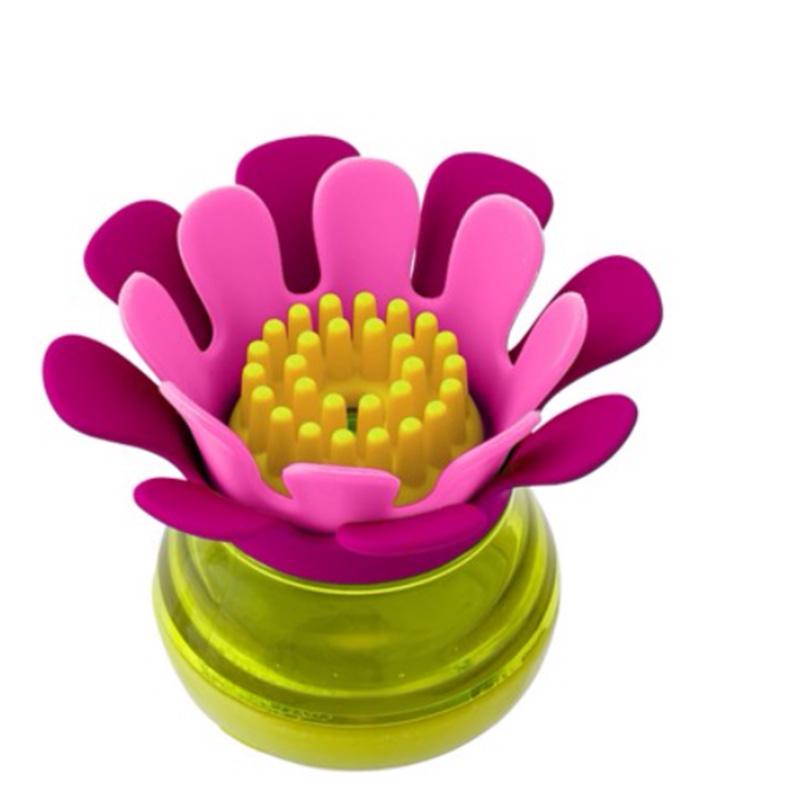 Boon啵儿 迷你硅胶餐具清洁刷 粉/紫 24